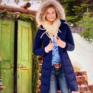 Lole Katie long winter coat with detachable hood
